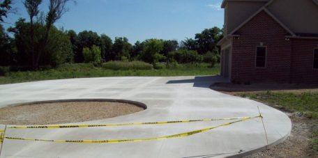round driveway paving
