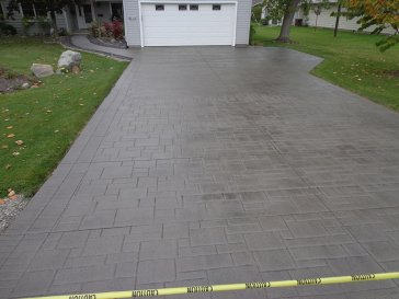stamped stained driveway