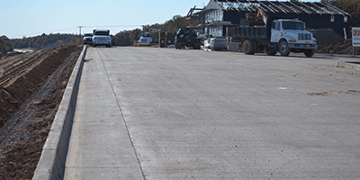 concrete paving roads